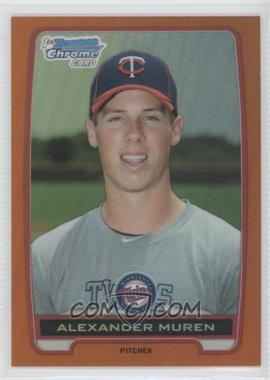 2012 Bowman Draft Picks & Prospects - Chrome Draft Picks - Orange Refractors #BDPP85 - Alexander Muren /25
