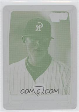 2012 Bowman Draft Picks & Prospects - Chrome Draft Picks - Printing Plate Yellow #BDPP113 - Scott Oberg /1