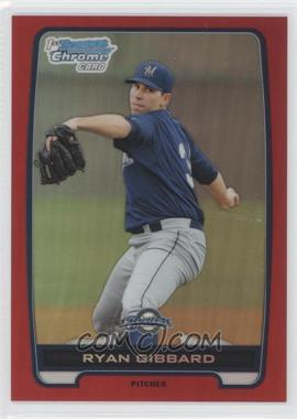 2012 Bowman Draft Picks & Prospects - Chrome Draft Picks - Red Refractors #BDPP105 - Ryan Gibbard /5