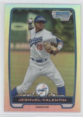 2012 Bowman Draft Picks & Prospects - Chrome Draft Picks - Refractors #BDPP11 - Jesmuel Valentin