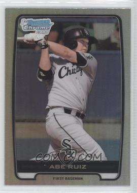 2012 Bowman Draft Picks & Prospects - Chrome Draft Picks - Refractors #BDPP124 - Abe Ruiz