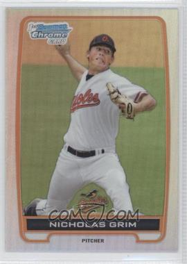2012 Bowman Draft Picks & Prospects - Chrome Draft Picks - Refractors #BDPP135 - Nicholas Grim