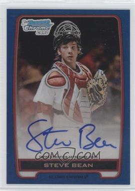 2012 Bowman Draft Picks & Prospects - Chrome Draft Picks Autographs - Blue Refractor #BCA-SB - Steve Bean /150