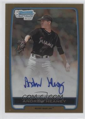 2012 Bowman Draft Picks & Prospects - Chrome Draft Picks Autographs - Gold Refractor #BCA-AH - Andrew Heaney /50
