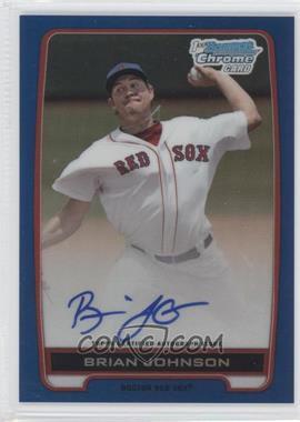 2012 Bowman Draft Picks & Prospects - Chrome Draft Picks Certified Autographs - Blue Refractor #BCA-BJ - Brian Johnson /150