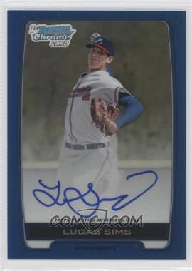 2012 Bowman Draft Picks & Prospects - Chrome Draft Picks Certified Autographs - Blue Refractor #BCA-LS - Lucas Sims /150