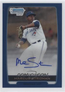 2012 Bowman Draft Picks & Prospects - Chrome Draft Picks Certified Autographs - Blue Refractor #BCA-MS - Marcus Stroman /150