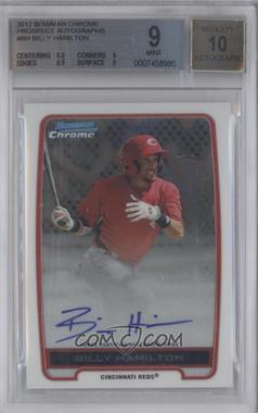 2012 Bowman Draft Picks & Prospects - Chrome Prospects Certified Autographs - [Autographed] #BCA-BH - Billy Hamilton [BGS 9]