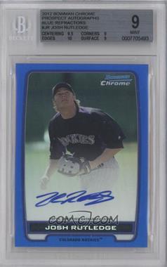 2012 Bowman Draft Picks & Prospects - Chrome Prospects Certified Autographs - Blue Refractor #BCA-JR - Josh Rutledge /150 [BGS9]
