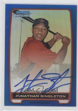 2012 Bowman Draft Picks & Prospects - Chrome Prospects Certified Autographs - Blue Refractor #BCA-JS - Jonathan Singleton /150