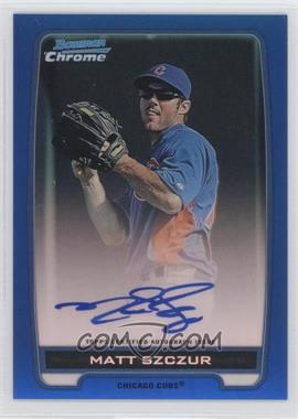 2012 Bowman Draft Picks & Prospects - Chrome Prospects Certified Autographs - Blue Refractor #BCA-MS - Matt Szczur /150
