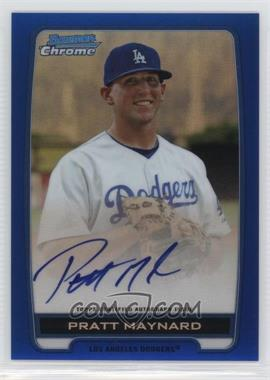 2012 Bowman Draft Picks & Prospects - Chrome Prospects Certified Autographs - Blue Refractor #BCA-PM - Pratt Maynard /150