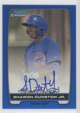 2012 Bowman Draft Picks & Prospects - Chrome Prospects Certified Autographs - Blue Refractor #BCA-SD - Shawon Dunston Jr. /150