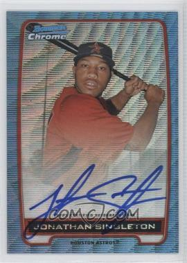 2012 Bowman Draft Picks & Prospects - Chrome Prospects Certified Autographs - Blue Wave Refractor #BCA-JS - Jonathan Singleton /50