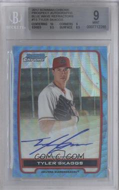 2012 Bowman Draft Picks & Prospects - Chrome Prospects Certified Autographs - Blue Wave Refractor #BCA-TS - Tyler Skaggs /50 [BGS9]