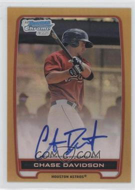 2012 Bowman Draft Picks & Prospects - Chrome Prospects Certified Autographs - Gold Refractor #BCA-CD - Chase Davidson /50