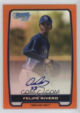 2012 Bowman Draft Picks & Prospects - Chrome Prospects Certified Autographs - Orange Refractor #BCA-FR - Felipe Rivero /25