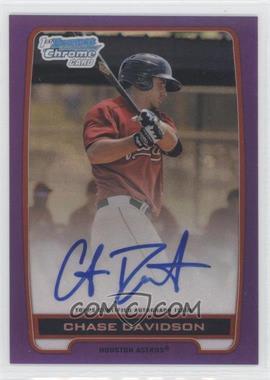 2012 Bowman Draft Picks & Prospects - Chrome Prospects Certified Autographs - Purple Refractor #BCA-CD - Chase Davidson /10