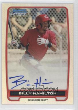 2012 Bowman Draft Picks & Prospects - Chrome Prospects Certified Autographs - Refractor #BCA-BH - Billy Hamilton /500