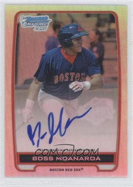 2012 Bowman Draft Picks & Prospects - Chrome Prospects Certified Autographs - Refractor #BCA-BM - Boss Moanaroa /500