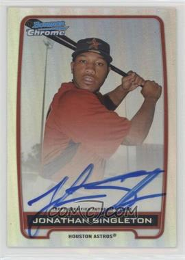 2012 Bowman Draft Picks & Prospects - Chrome Prospects Certified Autographs - Refractor #BCA-JS - Jonathan Singleton /500