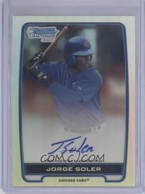 2012 Bowman Draft Picks & Prospects - Chrome Prospects Certified Autographs - Refractor #BCA-JSO - Jorge Soler /500