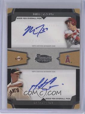 2012 Bowman Draft Picks & Prospects - Dual Top 10 Picks - Authentic Autographs [Autographed] #TPA-CT - Matt Cain, Mike Trout
