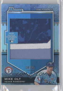 2012 Bowman Draft Picks & Prospects - Futures Game Relics - Jumbo Patch #FGJP-MO - Mike Olt /25