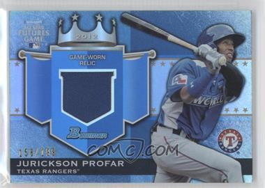 2012 Bowman Draft Picks & Prospects - Futures Game Relics #FGR-JP - Jurickson Profar /199