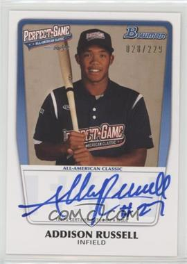 2012 Bowman Draft Picks & Prospects - Perfect Game All-American Autograph - [Autographed] #AAC-AR - Addison Russell /229