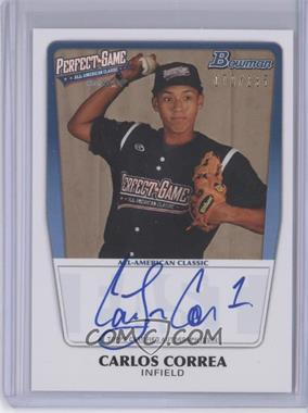 2012 Bowman Draft Picks & Prospects - Perfect Game All-American Autograph - [Autographed] #AAC-CC - Carlos Correa /285