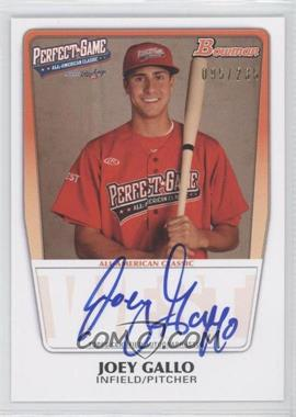 2012 Bowman Draft Picks & Prospects - Perfect Game All-American Autograph - [Autographed] #AAC-JG - Joey Gallo /235