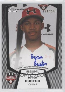 2012 Bowman Draft Picks & Prospects - Under Armour All-American Autograph - [Autographed] #UA-BB - Byron Buxton /233