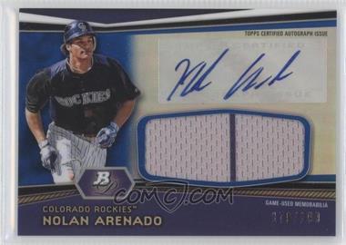 2012 Bowman Platinum - Autographed Jumbo Relics - Blue Refractor #AJR-NA - Nolan Arenado /199