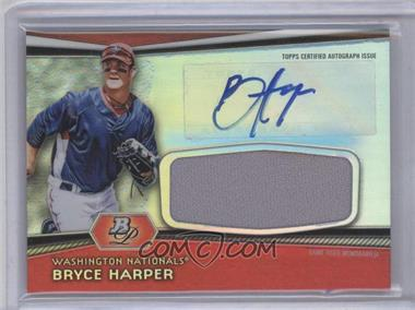 2012 Bowman Platinum - Autographed Jumbo Relics #AJR-BH - Bryce Harper