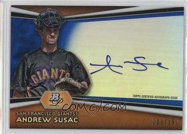 2012 Bowman Platinum - Autographed Prospects - Blue Refractor #AP-ASU - Andrew Susac /199