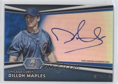 2012 Bowman Platinum - Autographed Prospects - Blue Refractor #AP-DM - Dillon Maples /199