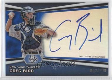 2012 Bowman Platinum - Autographed Prospects - Blue Refractor #AP-GB - Greg Bird /199