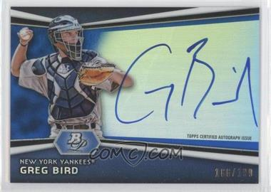 2012 Bowman Platinum - Autographed Prospects - Blue Refractor #AP-GB - Greg Bird /199