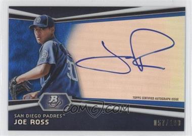 2012 Bowman Platinum - Autographed Prospects - Blue Refractor #AP-JR - Joe Ross /199