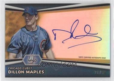 2012 Bowman Platinum - Autographed Prospects - Gold Refractor #AP-DM - Dillon Maples /50