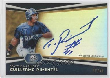 2012 Bowman Platinum - Autographed Prospects - Gold Refractor #AP-GP - Guillermo Pimentel /50