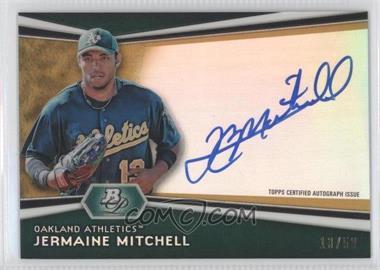 2012 Bowman Platinum - Autographed Prospects - Gold Refractor #AP-JM - Jermaine Mitchell /50