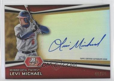 2012 Bowman Platinum - Autographed Prospects - Gold Refractor #AP-LM - Levi Michael /50