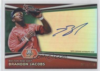 2012 Bowman Platinum - Autographed Prospects - Green Refractor #AP-BJ - Brandon Jacobs /399