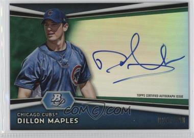 2012 Bowman Platinum - Autographed Prospects - Green Refractor #AP-DM - Dillon Maples /399
