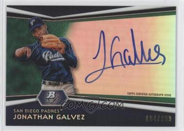 2012 Bowman Platinum - Autographed Prospects - Green Refractor #AP-JG - Jonathan Galvez /399
