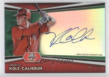2012 Bowman Platinum - Autographed Prospects - Green Refractor #AP-KC - Kole Calhoun /399