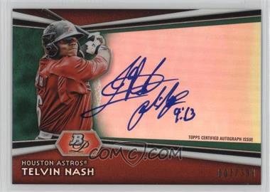 2012 Bowman Platinum - Autographed Prospects - Green Refractor #AP-TN - Telvin Nash /399