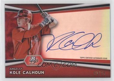 2012 Bowman Platinum - Autographed Prospects - Red Refractor #AP-KC - Kole Calhoun /25